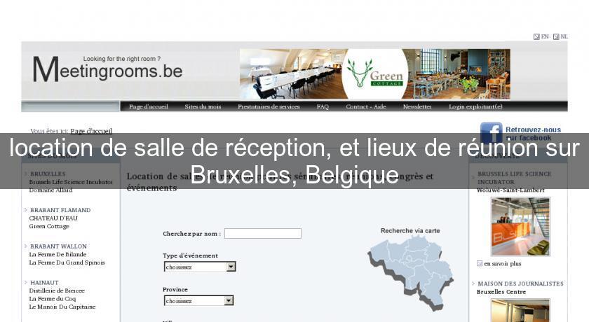 Location De Salle De Reception Et Lieux De Reunion Sur Bruxelles