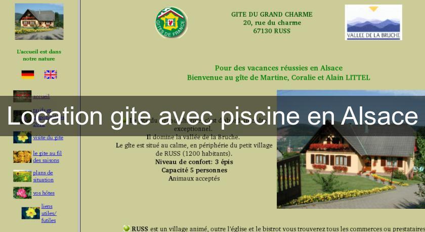Location Gite Avec Piscine En Alsace Chambres Hotes