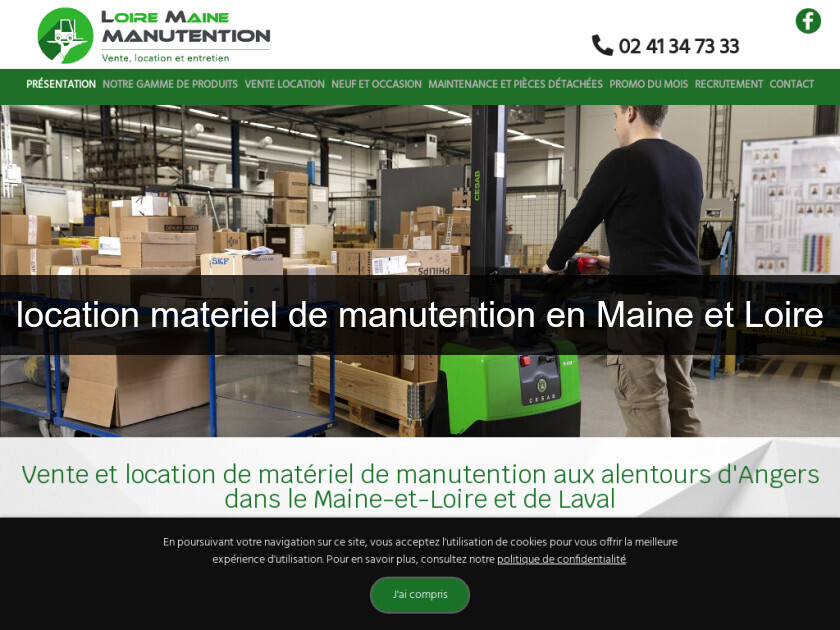 location materiel de manutention en Maine et Loire