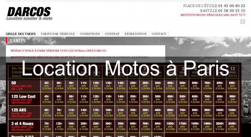 Location Motos à Paris