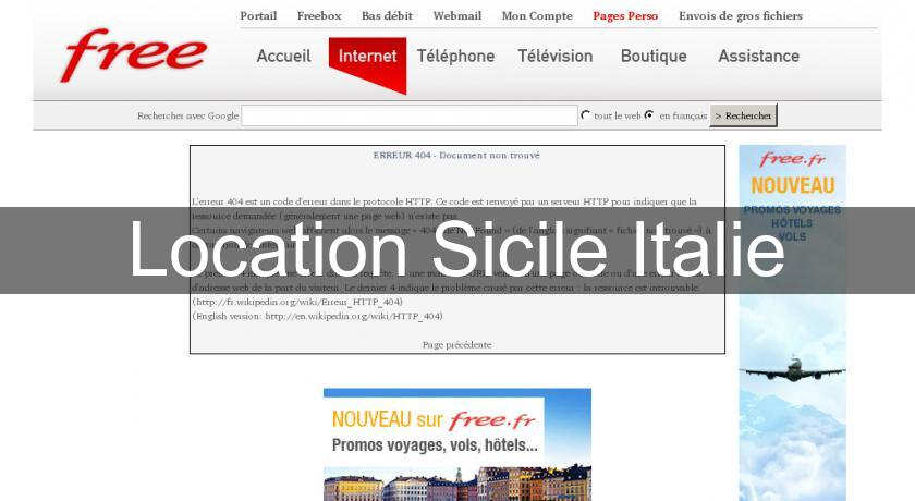 Location Sicile Italie