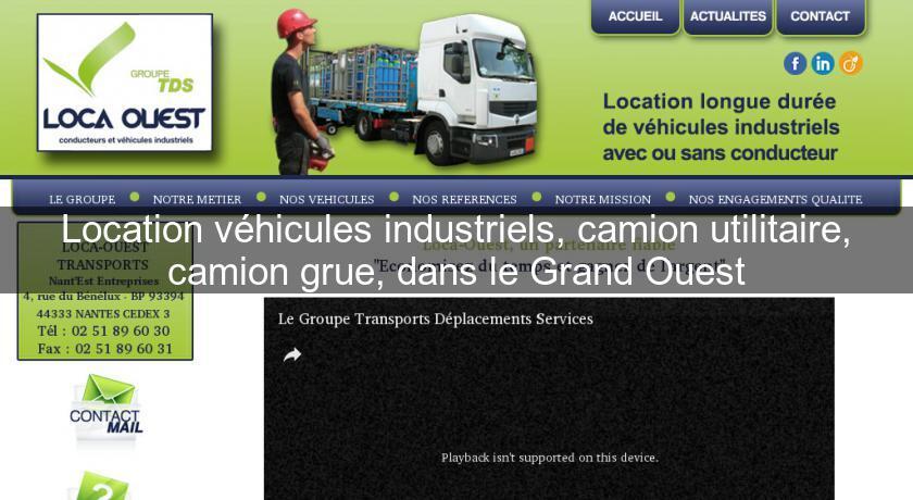 Location Véhicules Industriels Camion Utilitaire Camion Grue Dans