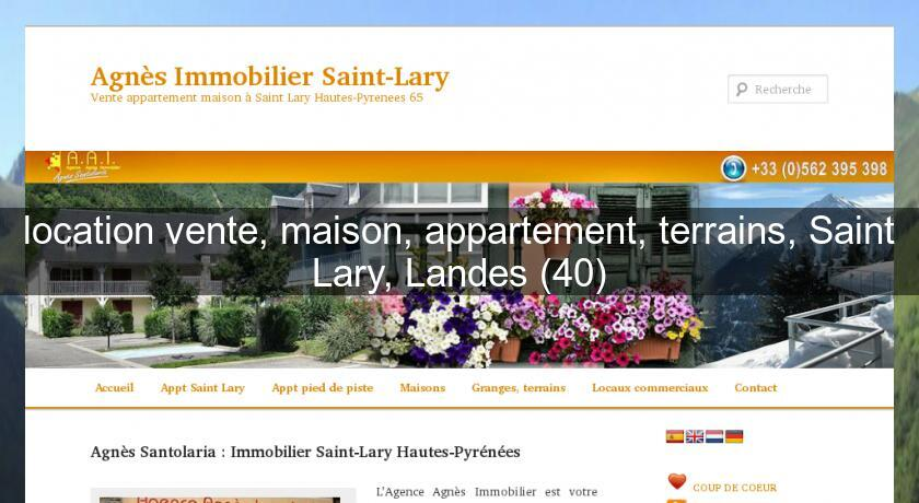 Location vente maison appartement terrains saint lary for Site vente appartement