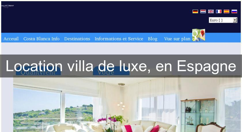 location villa de luxe en espagne location villa maison. Black Bedroom Furniture Sets. Home Design Ideas