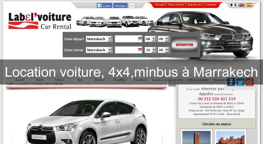 location voiture 4x4 minbus marrakech location voiture v hicule. Black Bedroom Furniture Sets. Home Design Ideas