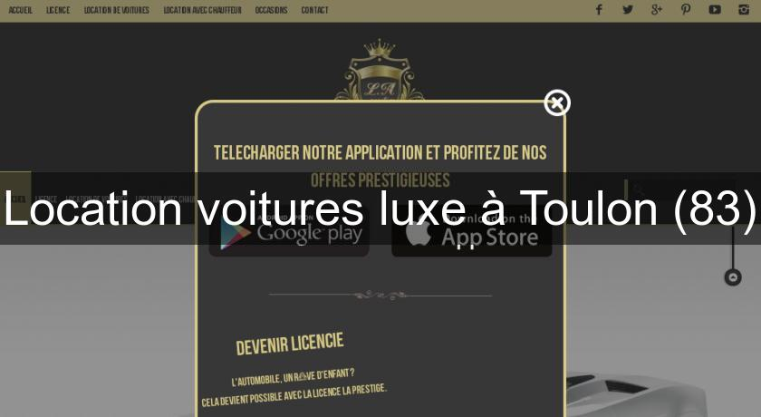 location voitures luxe toulon 83 location voiture v hicule. Black Bedroom Furniture Sets. Home Design Ideas