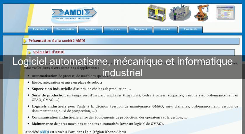 Logiciel Automatisme Mécanique Et Informatique Industriel
