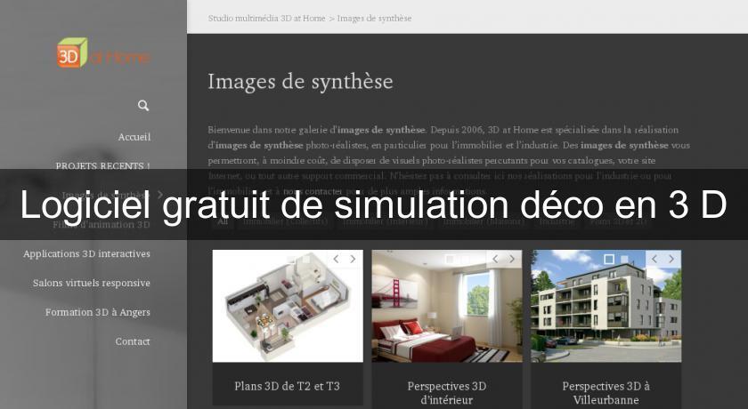 logiciel gratuit de simulation d co en 3 d d coration int rieure. Black Bedroom Furniture Sets. Home Design Ideas