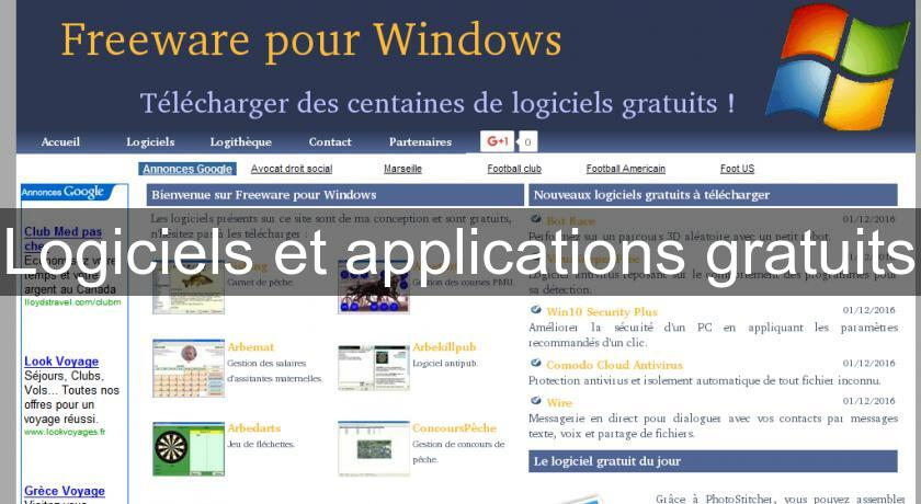 logiciels et applications gratuits freeware