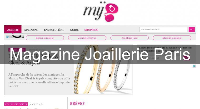 Magazine Joaillerie Paris