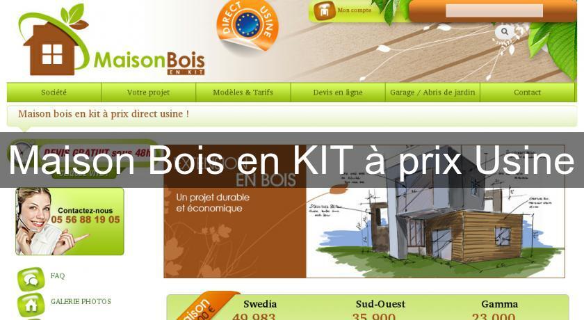 Maison bois en kit prix usine construction maison for Prix maison bois en kit