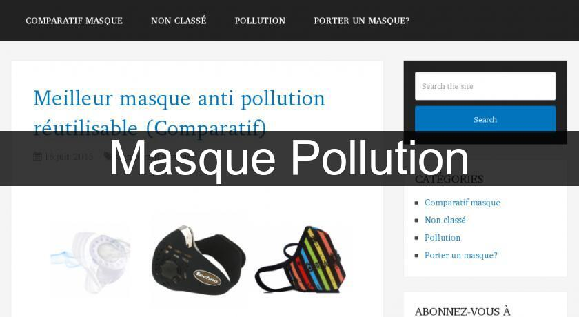 Masque Pollution