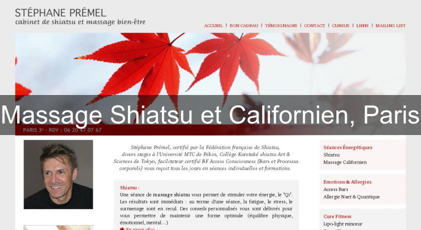 Massage Shiatsu et Californien, Paris