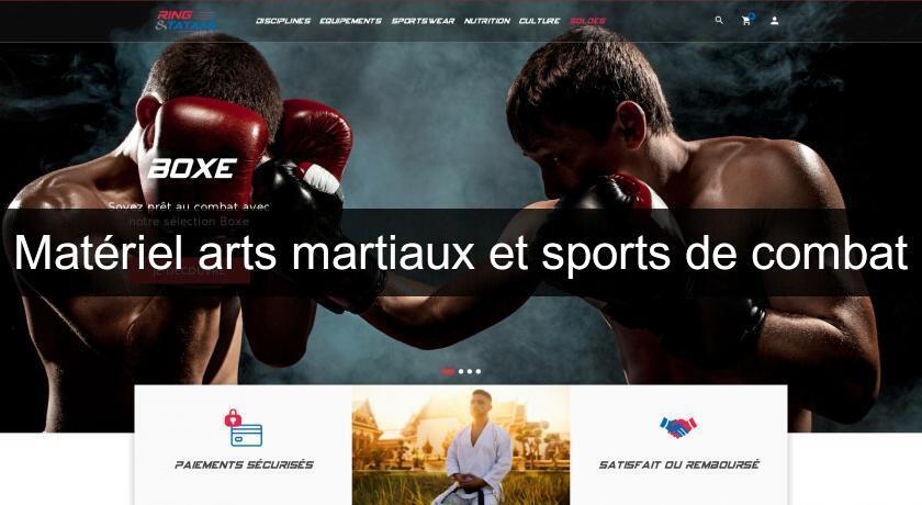 Ring & Tatami, équipement sports de combat et arts martiaux