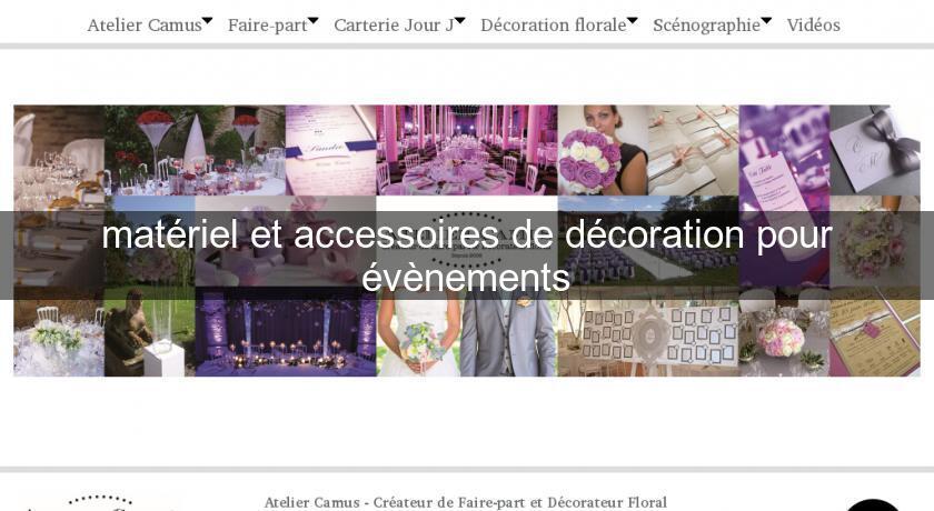 Mat riel et accessoires de d coration pour v nements for Annuaire decoration