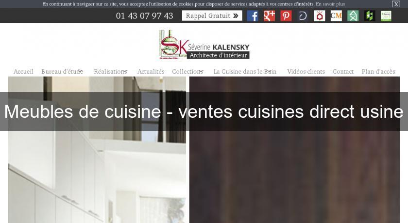meubles de cuisine ventes cuisines direct usine meuble cuisine. Black Bedroom Furniture Sets. Home Design Ideas