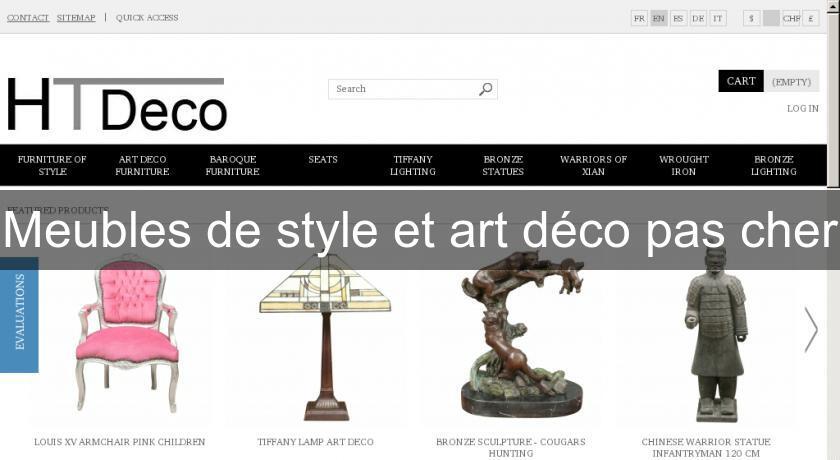 Meubles de style et art d co pas cher mobilier bois for Site mobilier pas cher