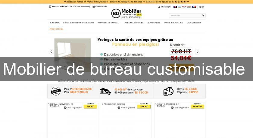 Mobilier de bureau customisable