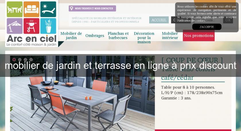 mobilier de jardin et terrasse en ligne à prix discount ...