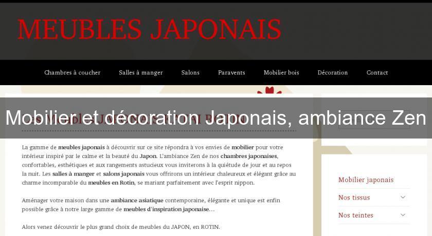 Mobilier Et Décoration Japonais Ambiance Zen Mobilier Chinois Et