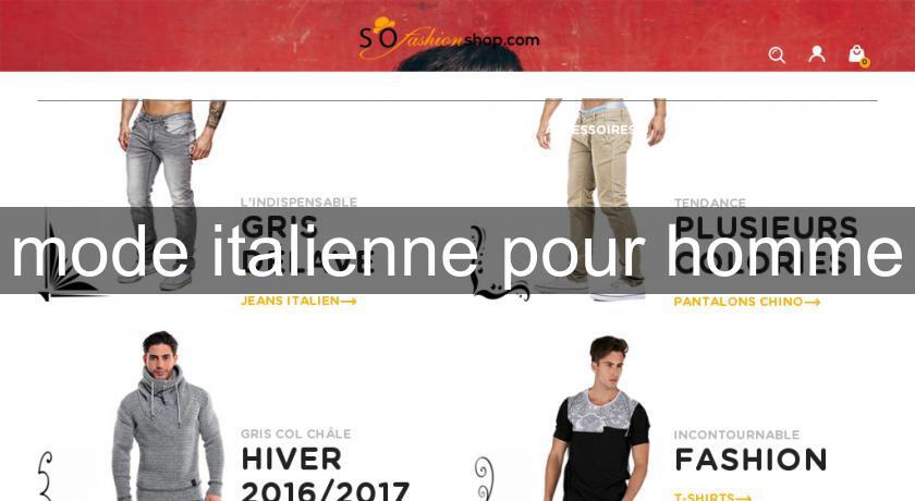 3891e16f9f8 mode italienne pour homme Pret à porter Homme