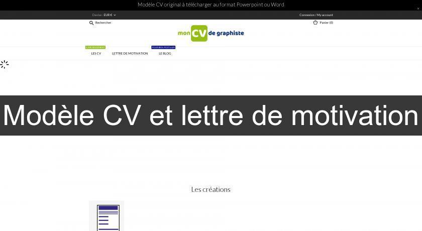 Modèle Cv Et Lettre De Motivation Bons Plans