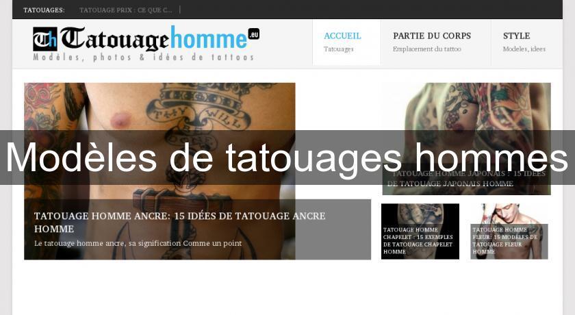 Modeles De Tatouages Hommes Soin Esthetique