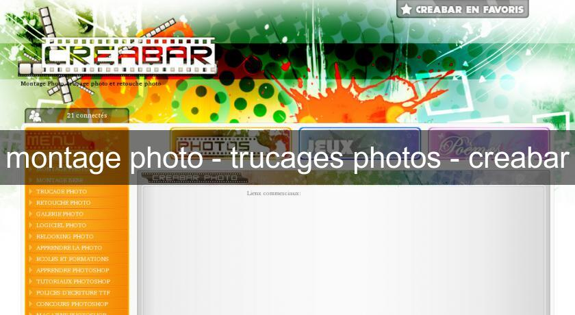 montage photo - trucages photos - creabar