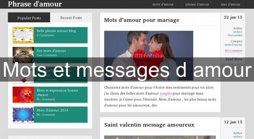 Sites d'amour et de rencontres