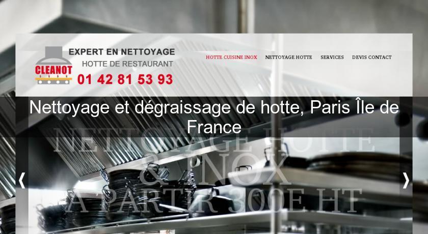 nettoyage et dgraissage de hotte paris le de france entretien nettoyage - Nettoyage Hotte De Cuisine