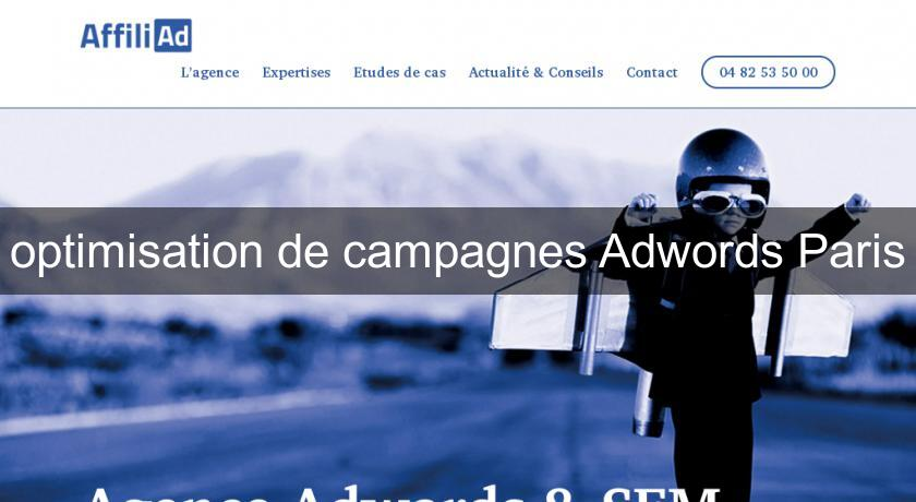 optimisation de campagnes Adwords Paris