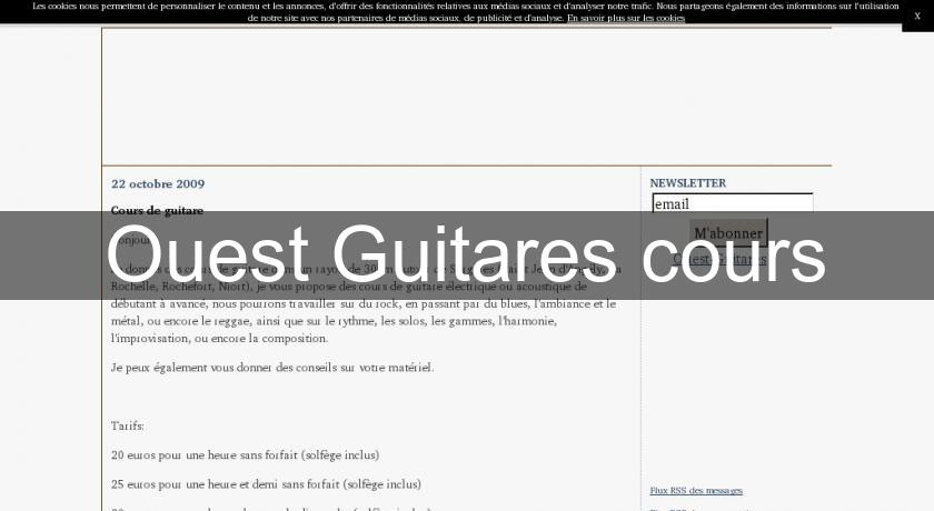 Ouest Guitares cours