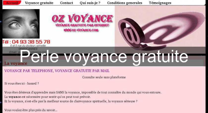 Perle voyance gratuite Voyance 34cc476e8266