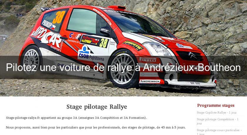 pilotez une voiture de rallye andr zieux boutheon stage. Black Bedroom Furniture Sets. Home Design Ideas
