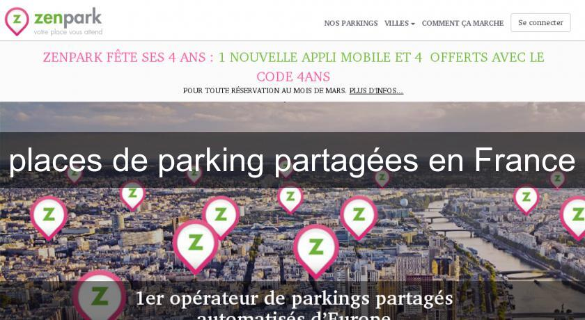 places de parking partagées en France