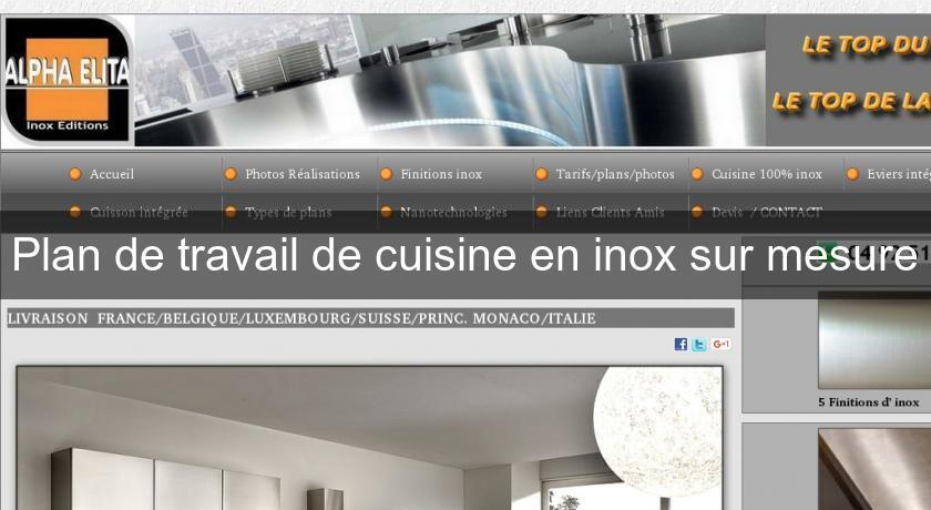 fabrication evier inox sur mesure id es d coration id es d coration. Black Bedroom Furniture Sets. Home Design Ideas