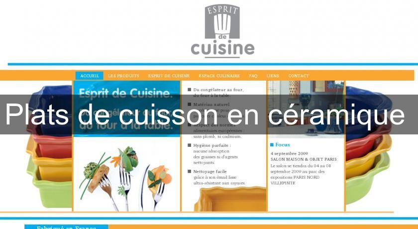 Plats de cuisson en c ramique accessoire cuisine for Accessoire cuisine en ligne