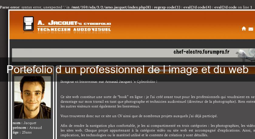 portefolio d u0026 39 un professionnel de l u0026 39 image et du web site