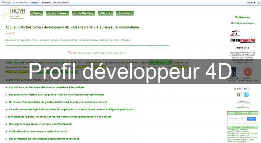 profil developpeur