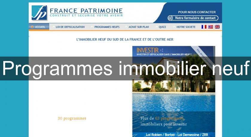 Programmes immobilier neuf