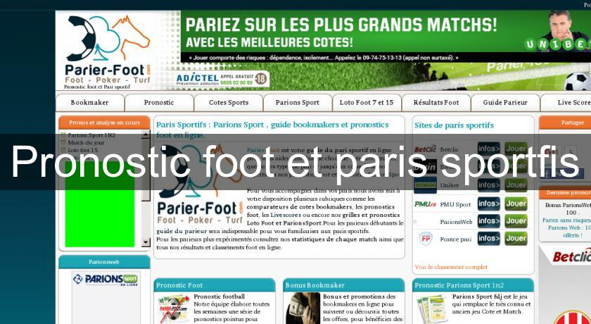 Pronostic foot et paris sportfis