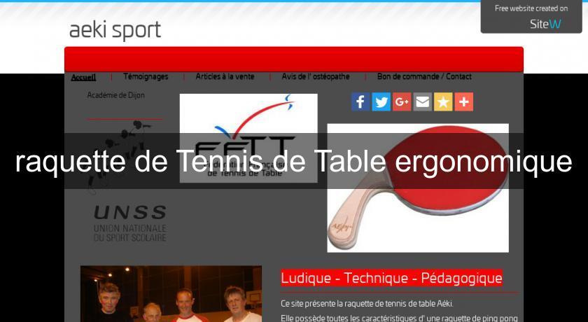 Raquette De Tennis De Table Ergonomique Ping Pong
