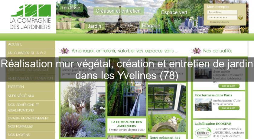 Réalisation mur végétal, création et entretien de jardin dans les ...