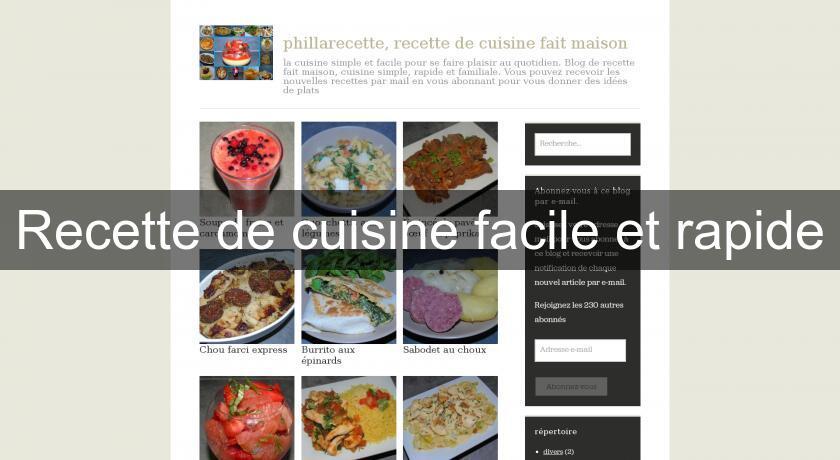 Recette De Cuisine Facile Et Rapide Recettes Cuisine