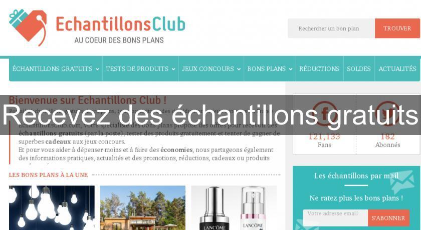 Recevez Des échantillons Gratuits Bons Plans