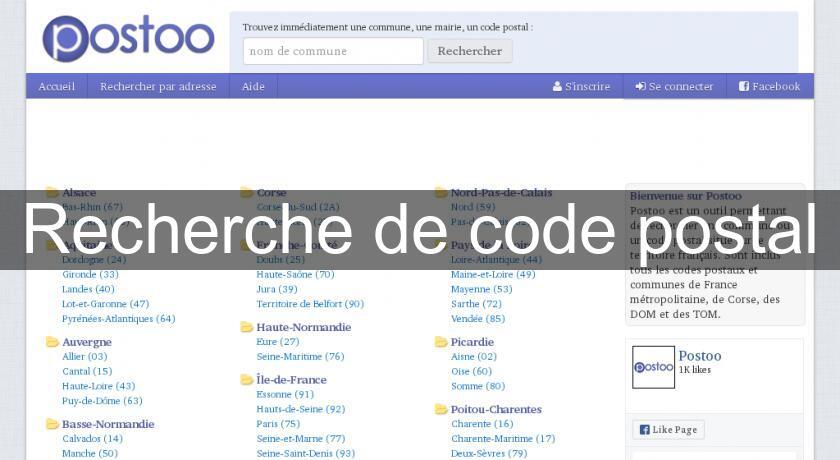 Recherche de code postal moteur de recherche for Moteur recherche hotel