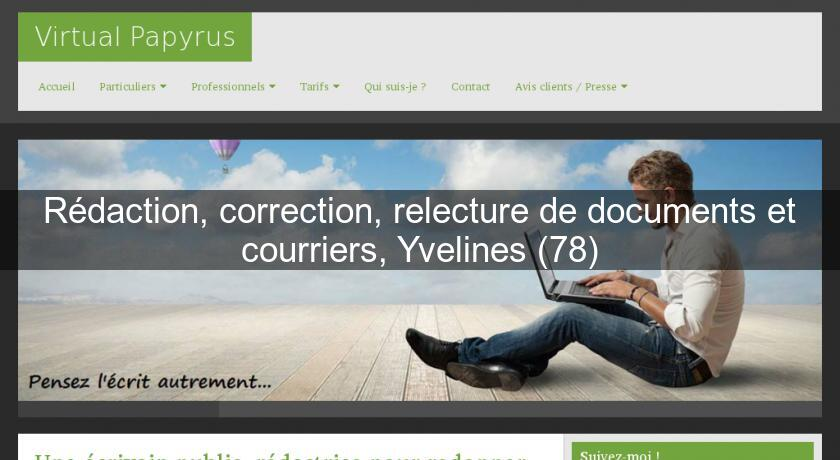 Rédaction, correction, relecture de documents et courriers, Yvelines (78)