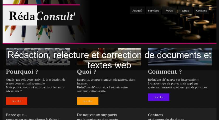Rédaction, relecture et correction de documents et textes web