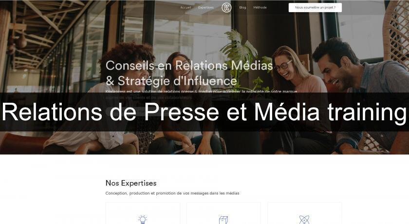 Relations de Presse et Média training