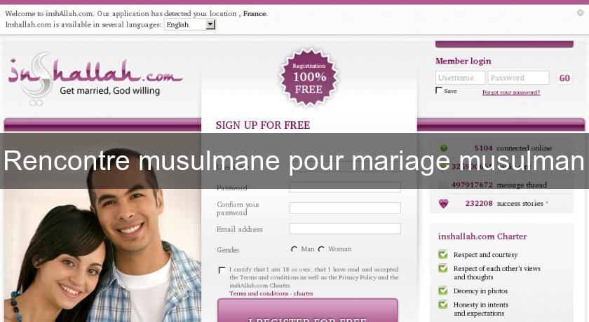 Inchallah.com rencontre musulmane